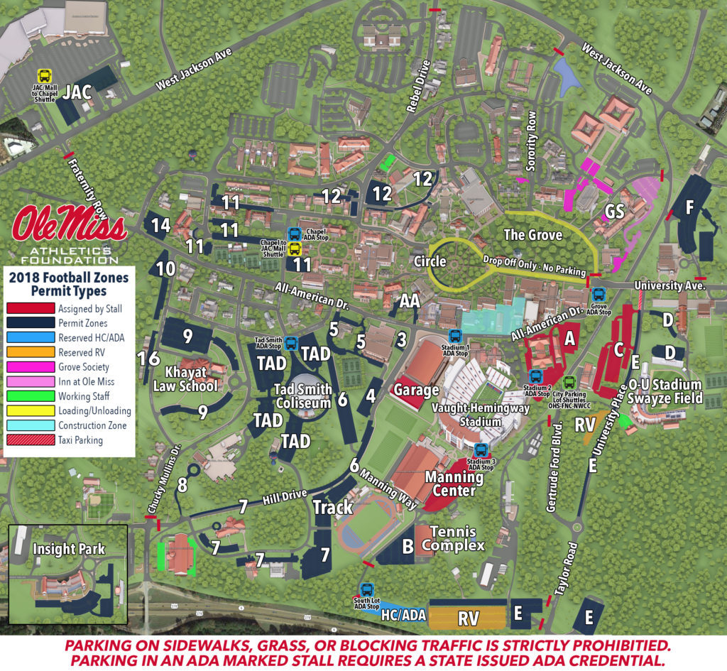 ADA Parking – Ole Miss Gamedays