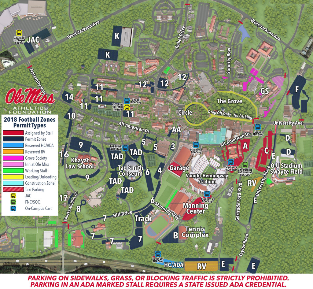 ADA On Campus Shuttles – Ole Miss Gamedays