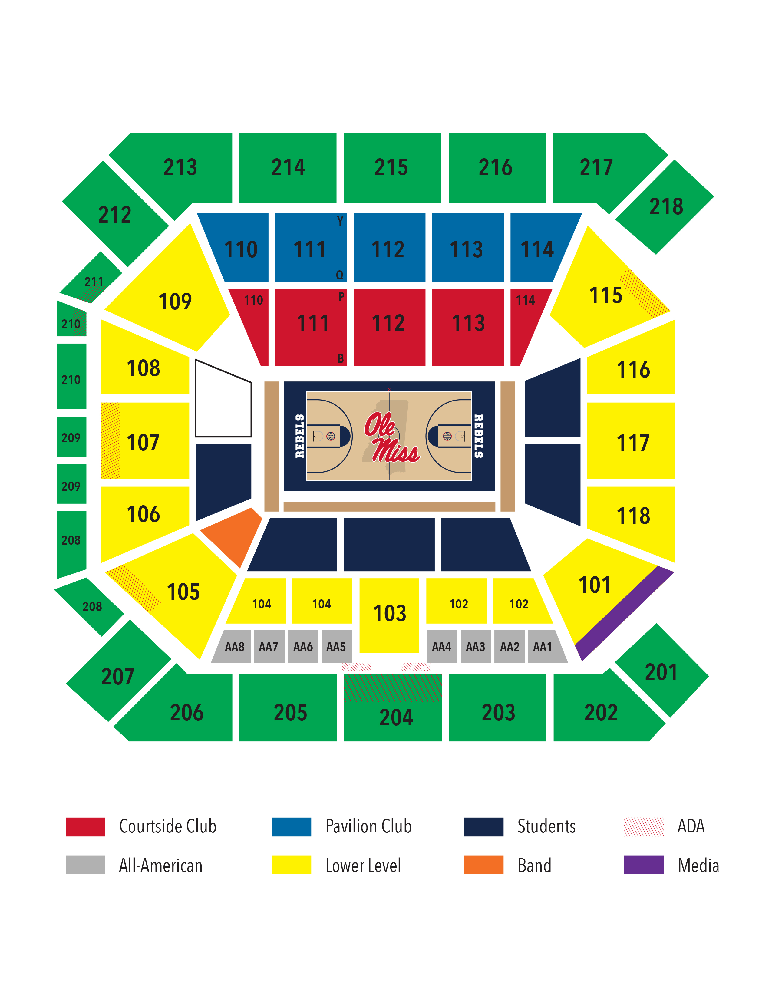 Seating chart ole miss gamedays
